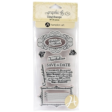 Hampton Art™ #3 Graphic 45 Cling Stamps, Time To Celebrate