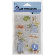 "Hampton Art™ 4"" x 8"" Impressions Clear Stamps, His & Hers Gardeners"