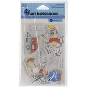 "Hampton Art™ 4"" x 8"" Impressions Clear Stamps, His & Hers Campers"