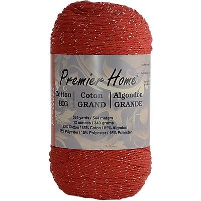 Premier Yarns® Home Cotton Glitz Yarn, Red Gold