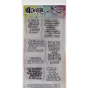 "Ranger 4"" x 8"" Dyan Reaveley's Dylusions Clear Stamps, Clearly Quotes"