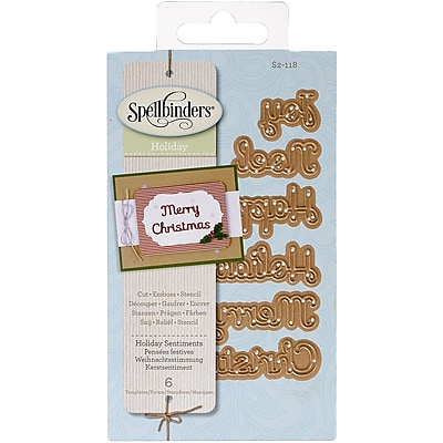 Spellbinders® Shapeabilities D-Lites Die, Holiday Sentiments