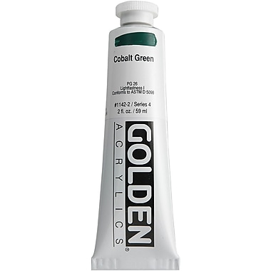 Pro-Art® Golden 2 oz. Heavy Body Acrylic Paint, Cobalt Green