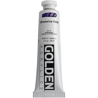 Pro-Art® Golden 2 oz. Heavy Body Acrylic Paint, Ultramarine Violet