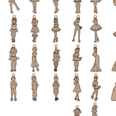 Prima Marketing™ Julie Nutting Mixed Media Laser Cut Wood Mini Doll Shapes