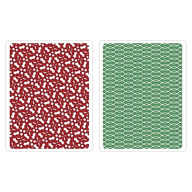 Sizzix® Textured Impressions A2 Embossing Folders, Holly Circle Set