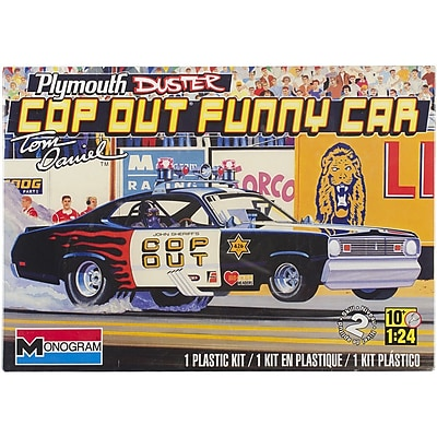 Revell® Monogram® Plymouth Duster Cop Out Car 1/24 Plastic Model Kit