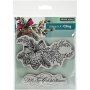 """Penny Black® 5"""" x 7 1/2"""" Sheet Cling Rubber Stamp, Winter Pine"""
