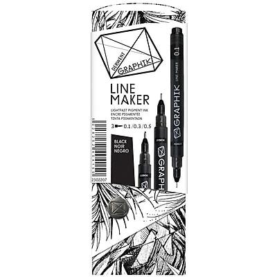 Reeves™ Graphik Line Maker Set, Black, 3/Pack