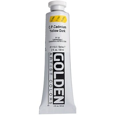 Pro-Art® Golden 2 oz. Heavy Body Acrylic Paint, Cadmium Yellow Dark