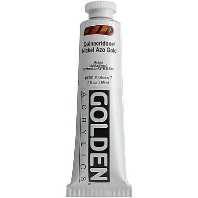 Pro-Art® Golden 2 oz. Heavy Body Acrylic Paint, Quinacridone Nickel Azo Gold