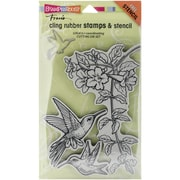 "Stampendous® 5"" x 9"" Cling Rubber Stamp, Hummingbirds"