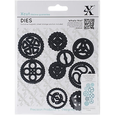 Docrafts® Xcut Black Chronology Die, Cogs