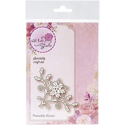Wild Rose Studio Specialty Steel Die, Poinsettia Corner