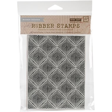 Hero Arts® Basic Grey Second City Cling Stamps, Dotted Grid