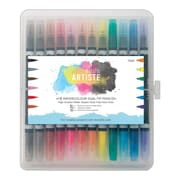 Docrafts® Artiste Watercolor Dual Tip Pens, Brush & Marker