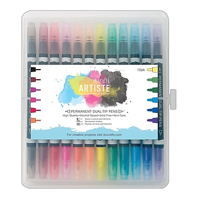 Docrafts® Artiste Permanent Dual Tip Pens, Thick & Thin