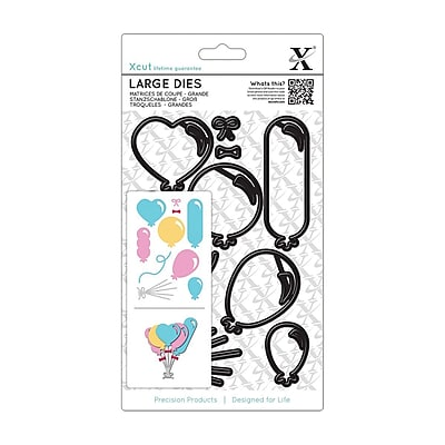 Docrafts® Xcut Decorative Large Die, Balloons, 10/Pack