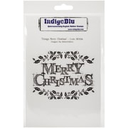 "IndigoBlu 5"" x 8"" Cling Mounted Stamp, Merry Christmas"