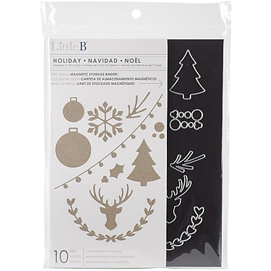 Little B™ Cutting Die With Magnetic Storage Binder, Holiday