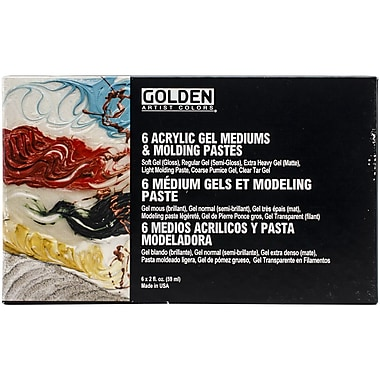 Pro-Art® Golden Introductory Acrylic Gel Mediums & Molding Paste Set