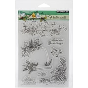 """Penny Black® 5"""" x 7 1/2"""" Sheet Clear Stamp Set, Holly Scroll"""