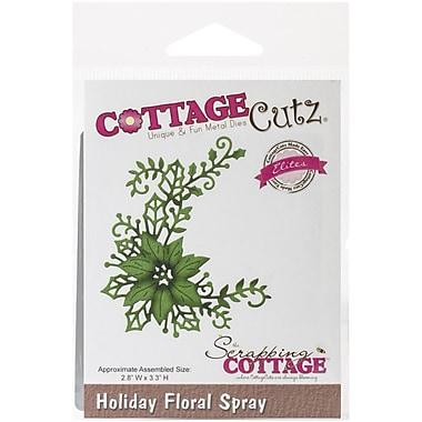 CottageCutz® Elites Universal Steel Die, Holiday Floral Spray