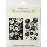 "Class Act 5 3/4"" x 6 3/4"" Chapel Road Cling Mounted Rubber Stamp Set, Gourds"