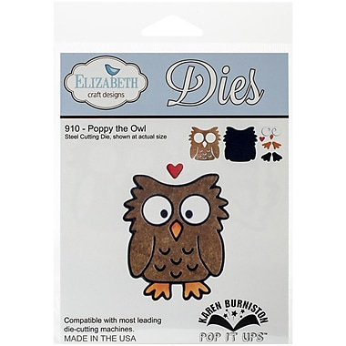 Elizabeth Craft Designs Metal Die, Poppy The Owl