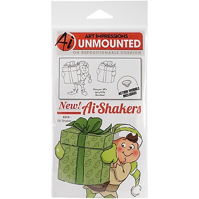 Art Impressions Shakers Card Cling Rubber Stamp, Elf