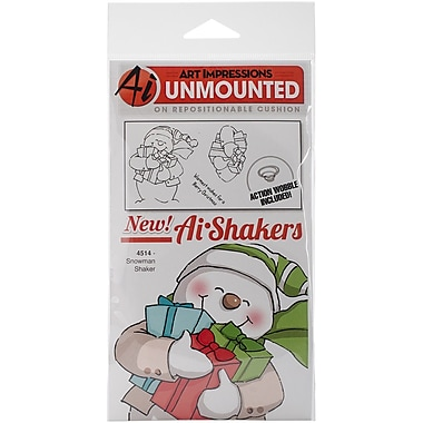 Art Impressions Shakers Card Cling Rubber Stamp, Snowman