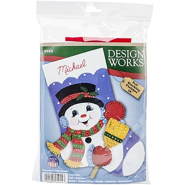 Tobin Stocking Felt Applique Kit, 16