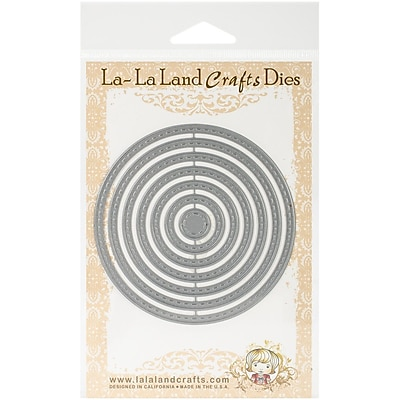 La-La Land Crafts Steel Die, Stitched Nested Circles
