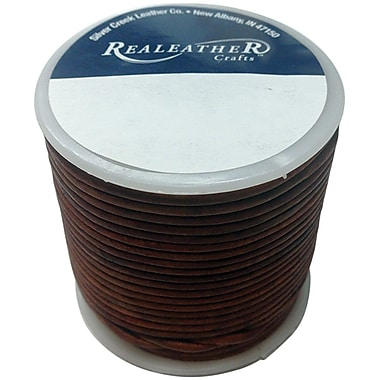 Realeather Crafts™ Round Leather Spool Lace, 2 mm x 25 yds., Cedar