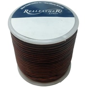 Realeather Crafts™ 2 mm x 25 yds. Round Leather Spool Laces
