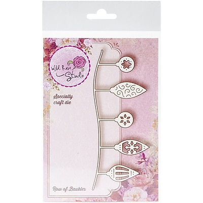 Wild Rose Studio Specialty Steel Die, Row of Baubles