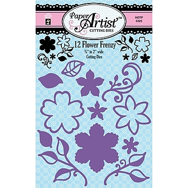 Hot Off The Press Paper Artist™ Cutting Die, 12 Flower Frenzy