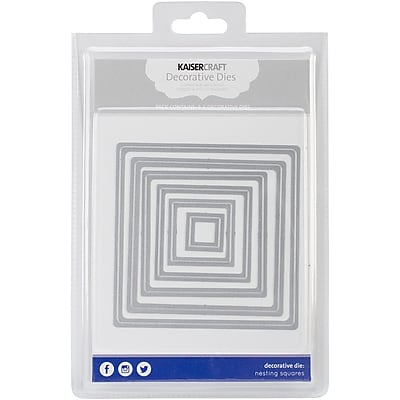 Kaisercraft Steel Decorative Die, Nesting Squares, 6/Pack