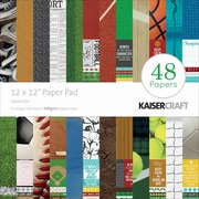 "Kaisercraft Paper Pad, 12"" x 12"", Game On!"