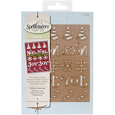 Spellbinders® Shapeabilities Die, Holiday Greetings