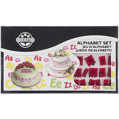 PME® Plastic Cutter Set, Lower and Uppercase Alphabet