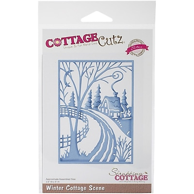 CottageCutz® Elites Universal Steel Die, Winter Cottage Scene