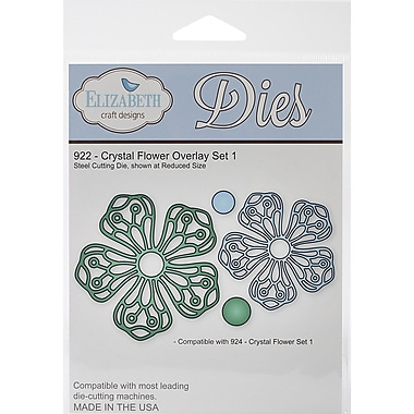 Elizabeth Craft Designs Metal Die, Crystal Flower Overlay Set 1