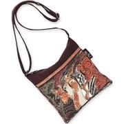 """Laurel Burch® 10"""" x 10"""" Crossbody Bag, Brown Moroccan Mares"""