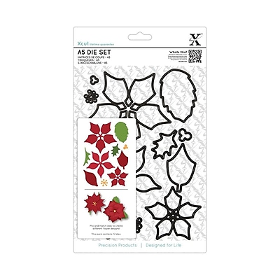 Docrafts® Xcut A5 Die Set, Poinsettia, 12/Pack