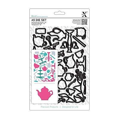 Docrafts® Xcut A5 Die Set, Tea Party