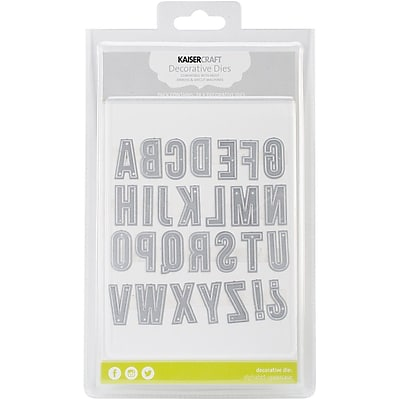 Kaisercraft Steel Decorative Die, Uppercase Alphabet, 28/Pack