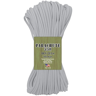 Pepperell Glow In The Dark Parachute Cord, 4 mm x 100'