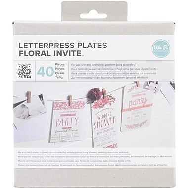 We R Memory Keepers™ Lifestyle Letterpress Plates, Floral Invite