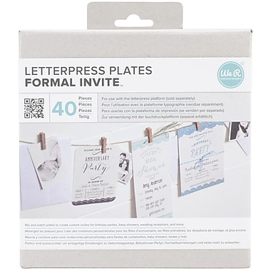 We R Memory Keepers™ Lifestyle Letterpress Plates, Formal Invite